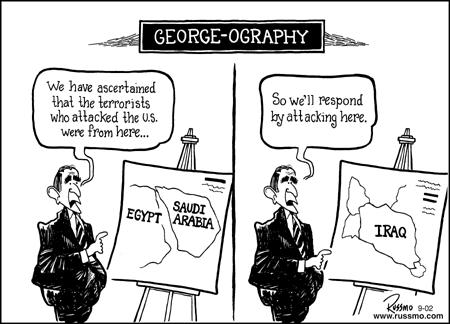Bush Iraq cartoon