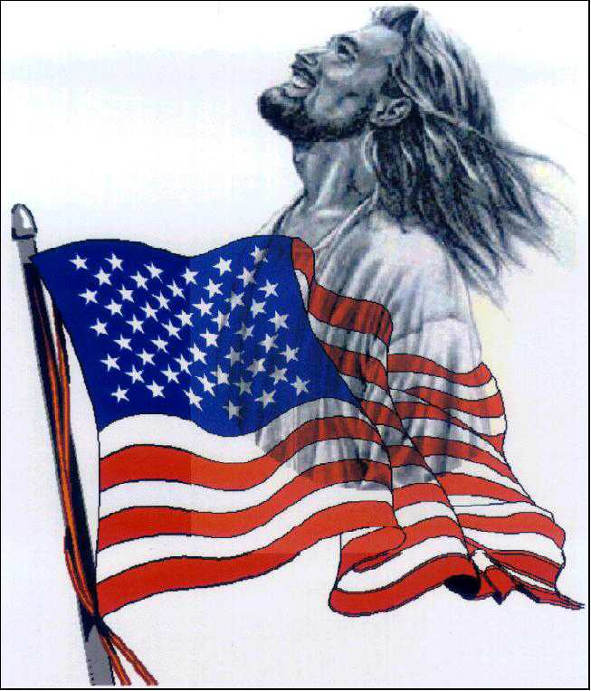 Jesus and flag