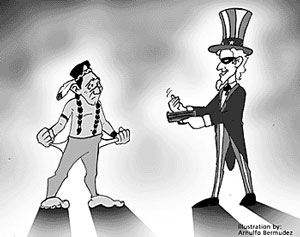 Uncle Sam robs