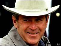 George W. Bush as a cowboy