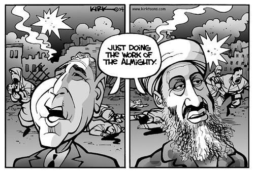 Bush and Osama bin Laden